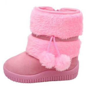 Hiver Bottes Enfants En Peluche Chaussures Filles Garçon Bottines BXFP-XZ095Rose20 chdqICR