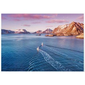 TABLEAU - TOILE Panorama® Tableau Montagnes du Lac 100 x 70 cm - I