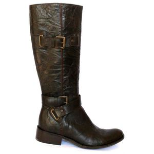 BOTTE BOTTES FEMME CAVALIERES CHAUSSURES CUIR MARRON T 3 479368ddb131