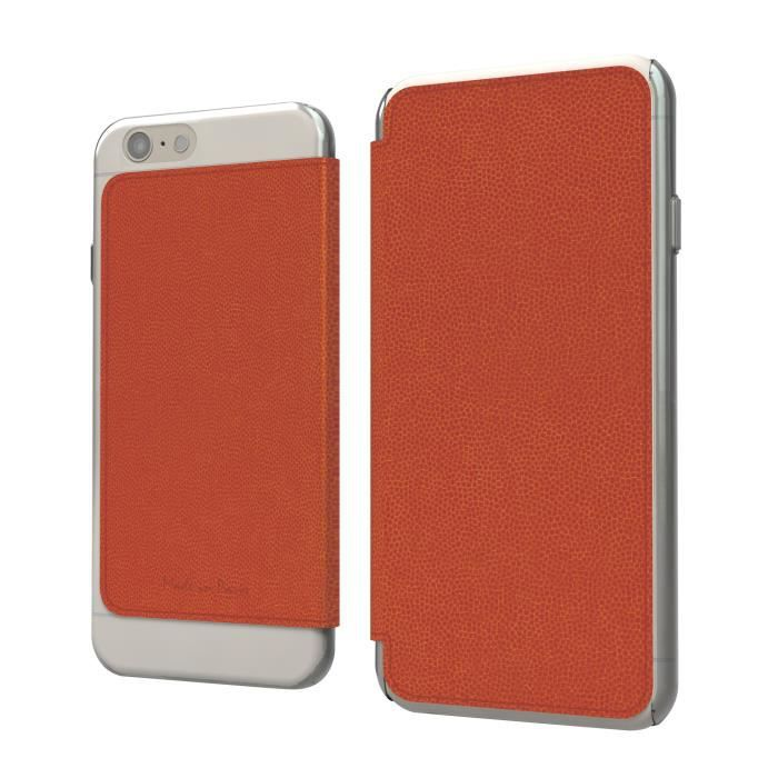 MUVIT Etui Crystal Folio - Iphone 6+ / 6s+ - Mandarine