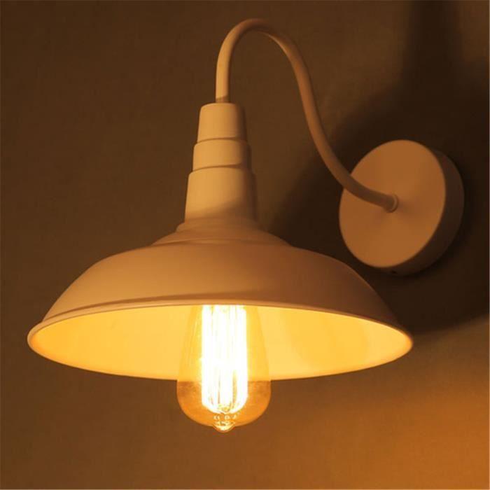 Art Vintage Etanche Mural Applique Lampe Décoration Blanc Décor Led CWrQoedxB