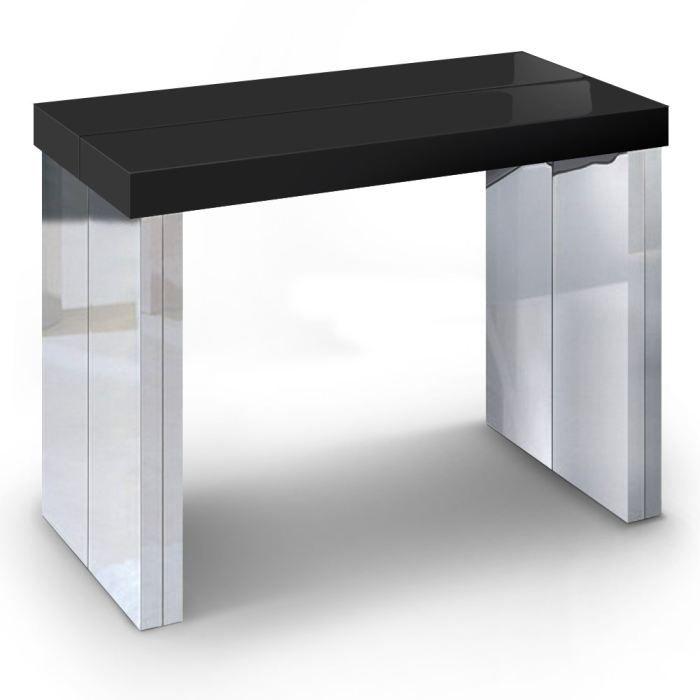 Achat Vente Noir Console Goa Extensible Table 8kX0PNnwO
