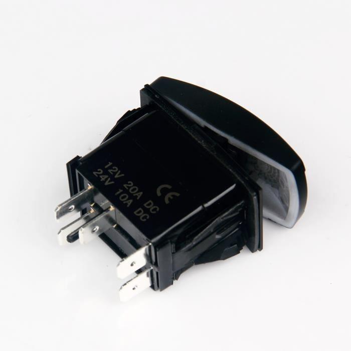 interrupteur bar bascule a bascule 12v 20a etanche achat vente pas cher. Black Bedroom Furniture Sets. Home Design Ideas