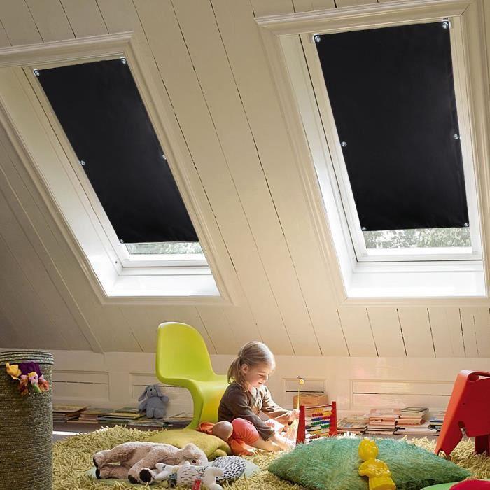 Store Enrouleur Occultant 60X115CM Sans Perçage pour Fenêtre de Toit ...