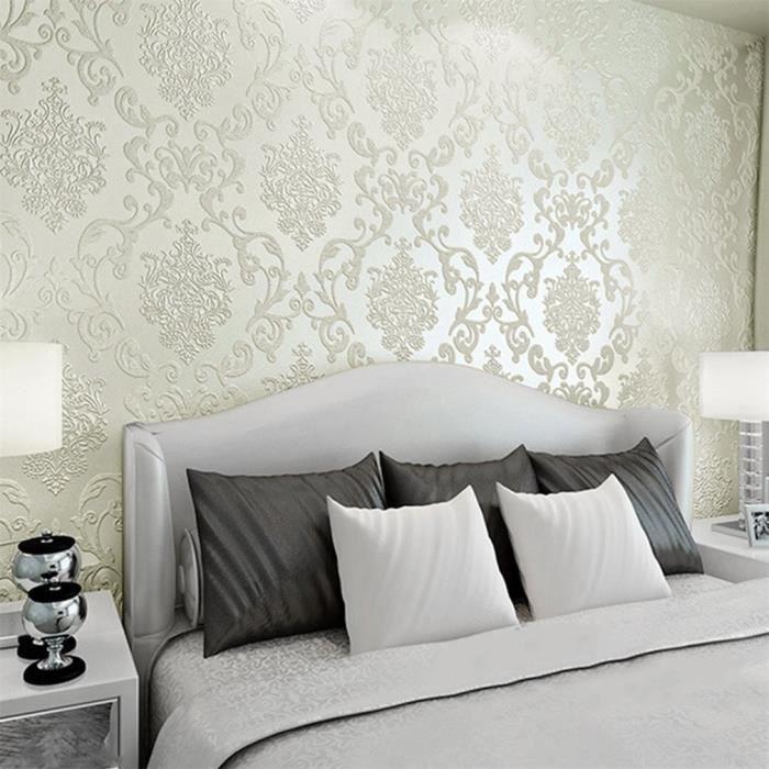 3d Papier Peint Intisse Modern De Luxe 10m Beige Achat Vente