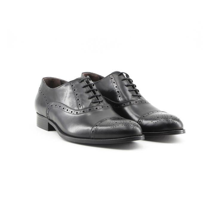 In Chaussures P Umberto Richelieu 40 Italia Noir Made Cuir SdWqR6