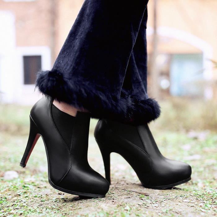 bottes courtes-Femmes de couleurs assorties tal... uWXKdAaJZ8