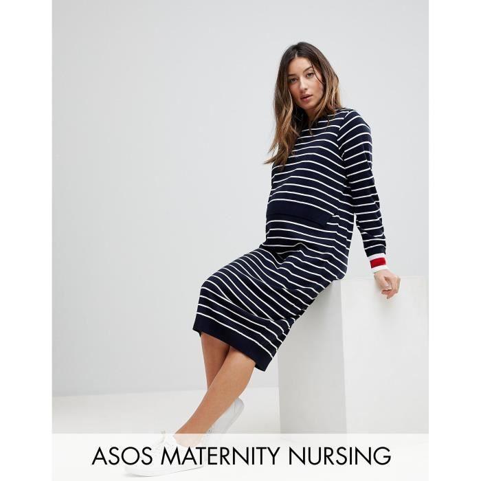 600c01e029336 Trendtwo ASOS Maternity - Robe d'allaitement à rayures et liserés ...