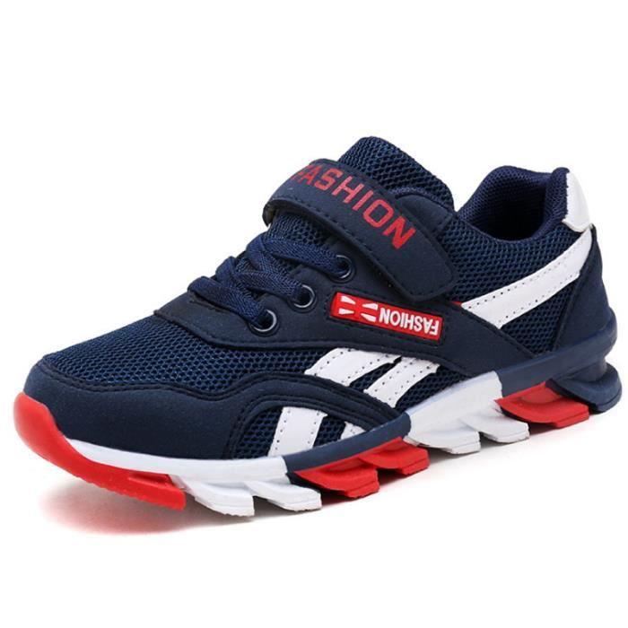 Chaussures Enfants De Sport Garçons Filles Classique Sneakers BBZH-XZ097Bleu26