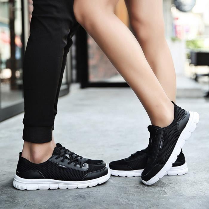 De Hommes Noir Dentelle Souliers Chaussures 80606393 Couple Respirants Sneakers Confortable Mesh qxwOZA07A