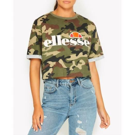 ee2fef45332 T-shirt court femme alberta crop tee collection heritage Camouflage ...