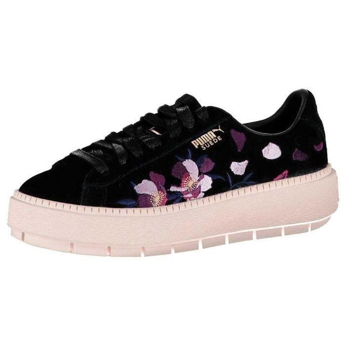 Chaussures femme baskets puma select suede platform trace
