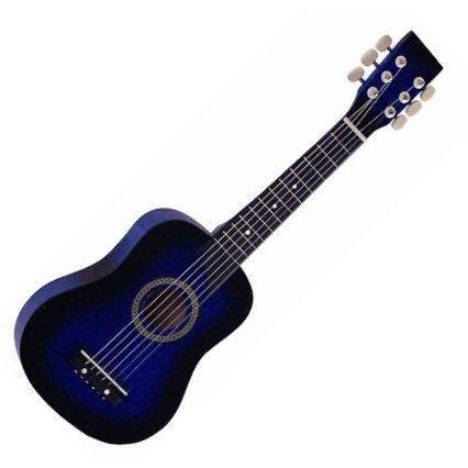 guitare cordes m tal pour enfant bleu pas cher achat. Black Bedroom Furniture Sets. Home Design Ideas