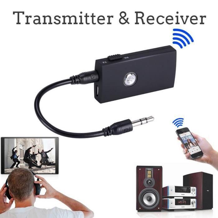 transmetteur bluetooth mini portable 2 en 1 sans fil et r cepteur a2dp audio musique st r o. Black Bedroom Furniture Sets. Home Design Ideas