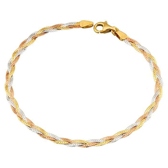 Bracelet Or 18K tricolore Orleo REF3354