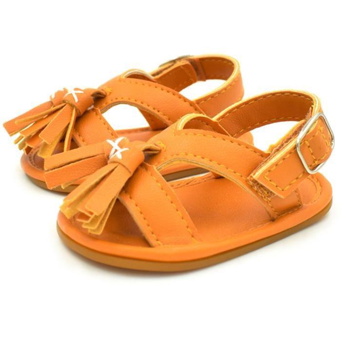 BOTTE Nouveau-né bébé garçon fille gland étape chaussures sandales chaussures molles chaussures antidérapantes@OrangeHM
