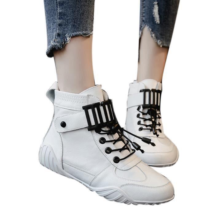 Baskets Femme De Bottines Maillot Course Montantes Blanc Bottes Chaussures Sport Respirant BR1xq7w