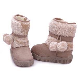 Hiver Bottes Enfants En Peluche Chaussures Filles Garçon Bottines BXFP-XZ095Rose20 rT4qXDdS3