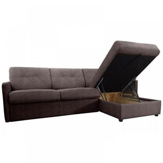 Canapé d angle réversible ouverture RAPIDO CUBE 120 cm + coffre. Tissu  Microfibre taupe. - Achat   Vente canapé - sofa - divan - Soldes  dès le 9  janvier ! dfecbed9709e