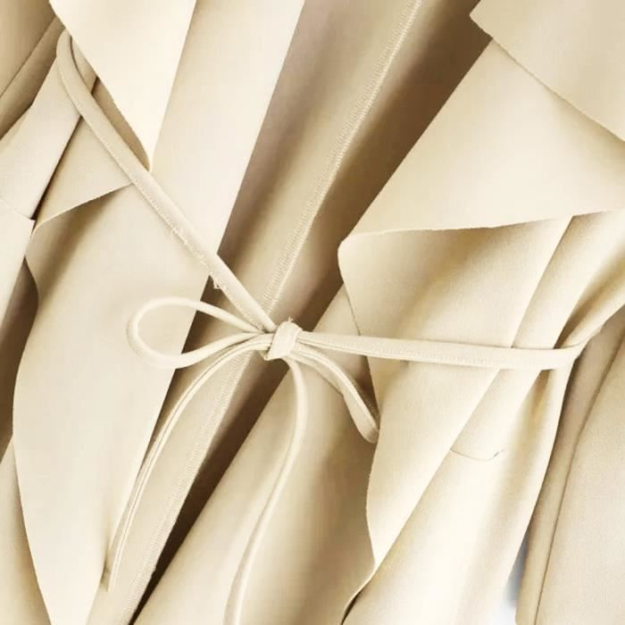 Avant Spentoper Wrap Poche Veste Col Casual Femmes Outwear De Manteau Cascade 4YxqY6rC
