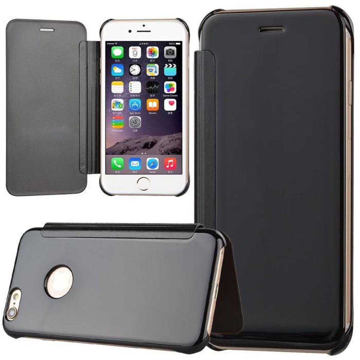 28613d908803 Étui Cuir iPhone SE Miroir Coque Téléphone iPhone 5S Housse PC ...
