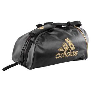 SAC DE SPORT Sac de sport Adidas convertible Noir et Or L Noir