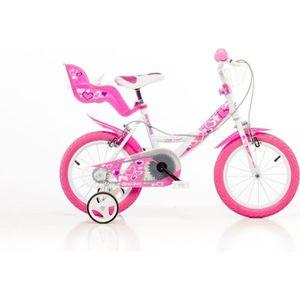 VÉLO ENFANT Vélo 14 pouces fille blanc  2 freins