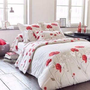 housse de couette 240x260 fleurie achat vente pas cher. Black Bedroom Furniture Sets. Home Design Ideas