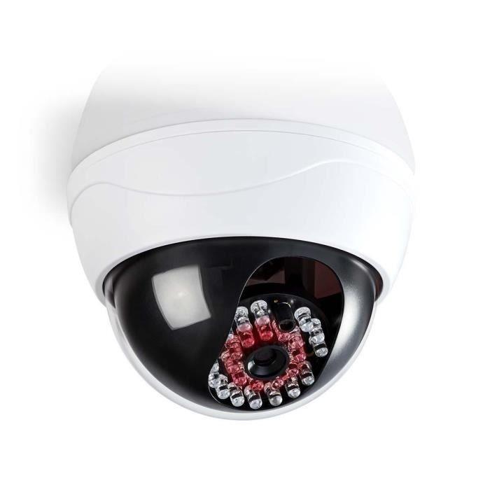 NEDIS Caméra de sécurité factice - Dôme - IP44 - Blanc