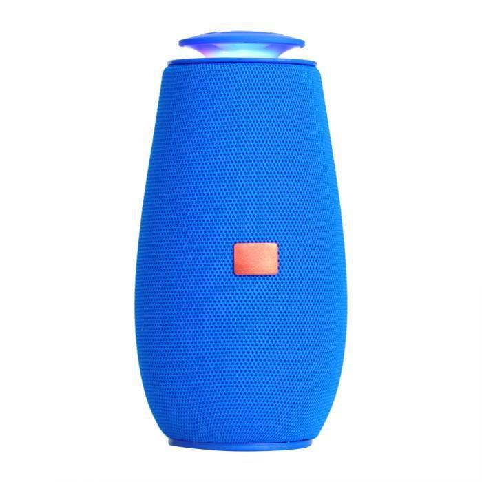 Led Haut-parleur Sans Fil Bluetooth Stéréo Colonne Subwoofer Portable Étanche_de4112