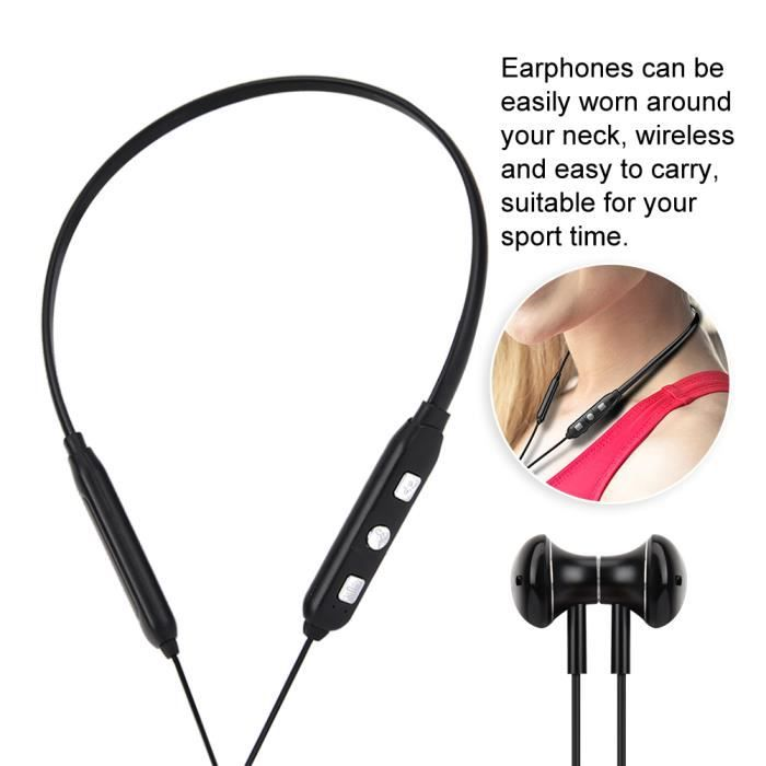 Sport Casque Sans Fil Bluetooth Courant Écouteur Stéréo Ipx7 Étanche À La Sueur-preuve