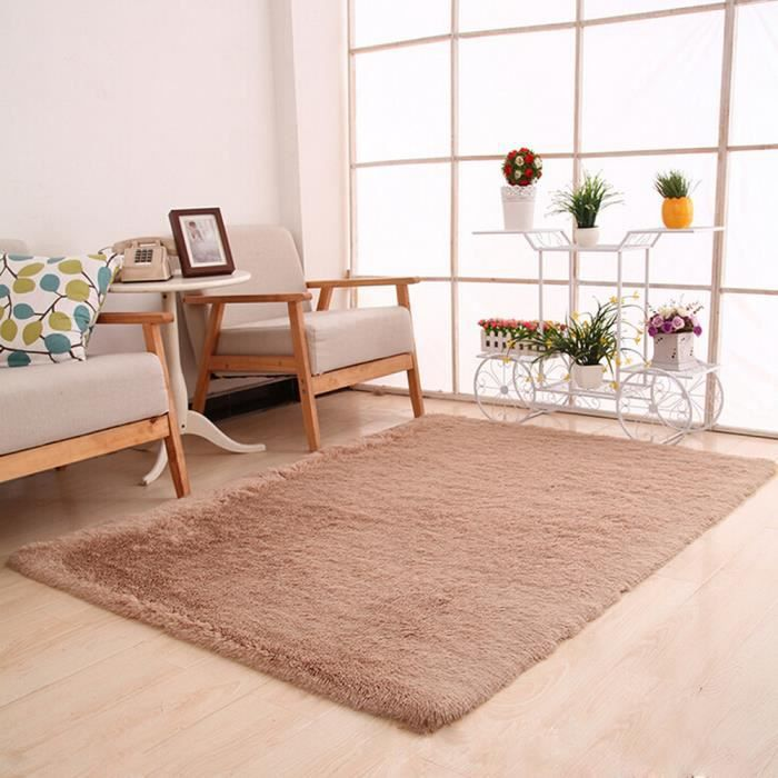 Tapis Moelleux Anti Skid Shaggy Zone Tapis Salle A Manger Chambre A