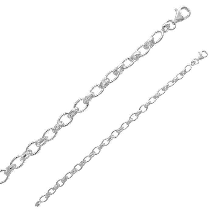 Jouailla - Bracelet à maille jaseron en argent 925/1000e