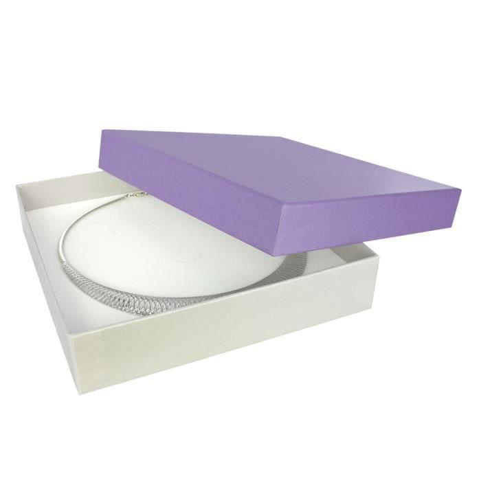 Jouailla - Ecrin collier carton - Violet