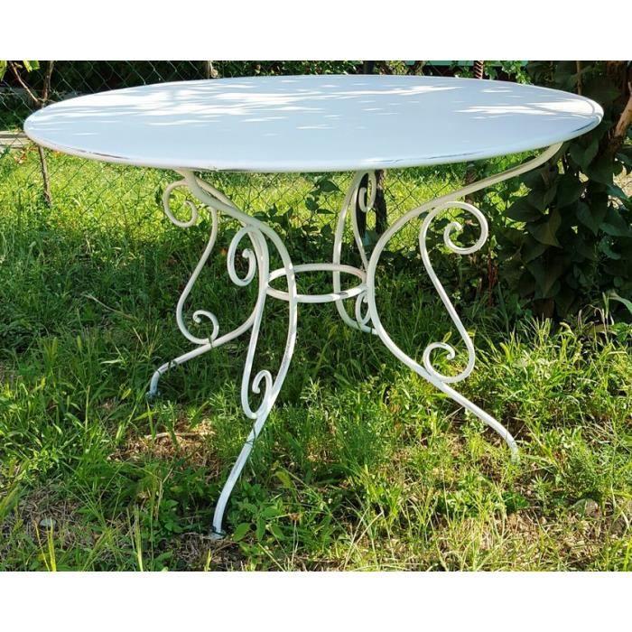 Casa Padrino table de jardin en fer forgé - couleurs - Ø115 cm x 75 ...