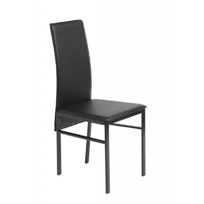 Beautiful table noire et chaises photos amazing house - Ensemble table et chaise de cuisine pas cher ...