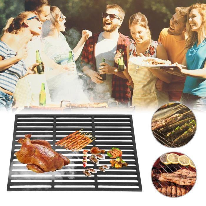 great fit store differently Grille de barbecue en fonte Carrée 45 x 35 cm anti-adhésif ...