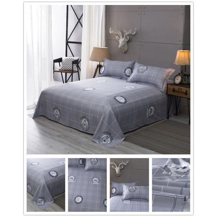 linge de lit urbain Linge de lit 100% coton Couvre lit Étudiants d'été simple linge de  linge de lit urbain