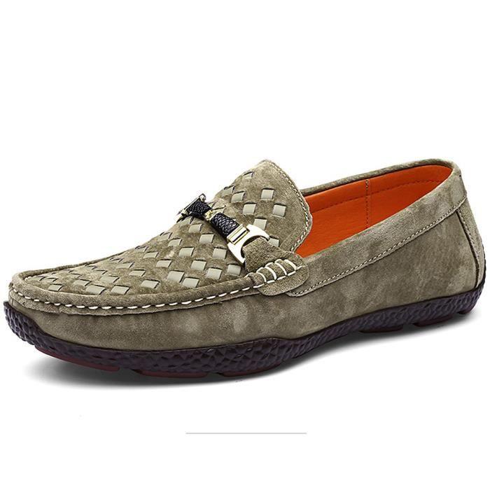 Shenn Homme Plat Glisser sur Classique Robe De Soirée Décontractée Mariage Suède Mocassins Chaussures