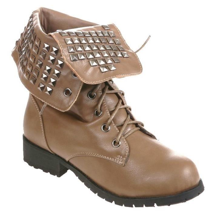 9766d4c39d6 boots lacets femme pas cher