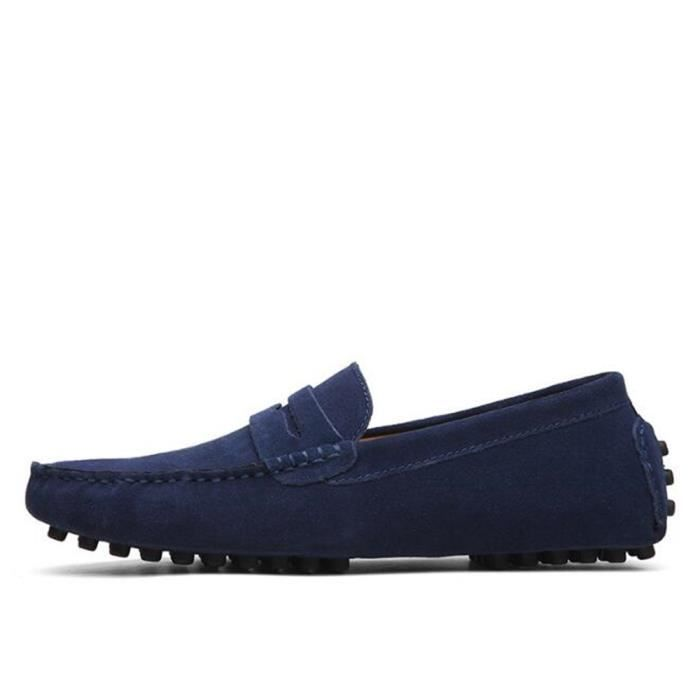 Chaussure Homme Nouvelle Mode Qualité Supérieure Confortable Mocassins Appartements Chaussures En Daim En Cuir