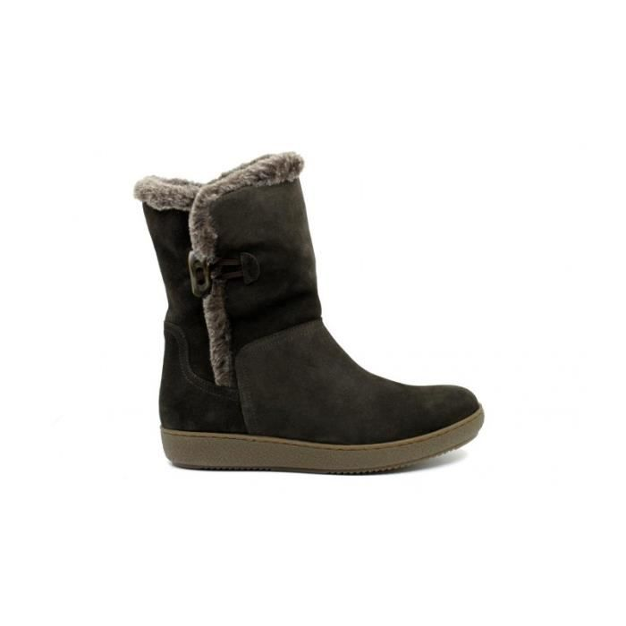 ALPEACTIVE Bottines- Pelo - Suede - Gris - Taille - Trente-neuf Femme Ref. 1655_16405