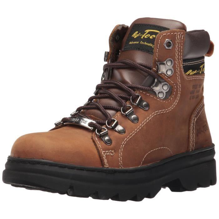 "1977 6"" Randonneur Steel Toe Brown Bottes de travail CUC0O Taille-44 1-2"