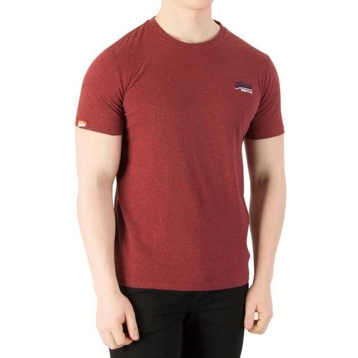 7e90d566 Superdry Homme T-Shirt Vintage Label Orange, Rouge Rouge Bleu ...
