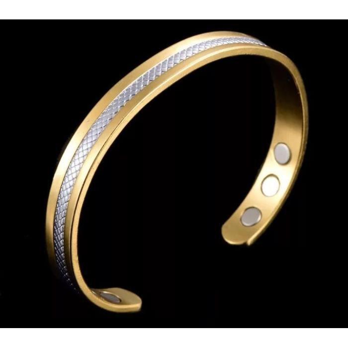 100% authentique 91326 a8f69 Bracelet magnétique en cuivre avec aimants - motif Lézard
