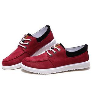 Chaussures En Toile Hommes Basses Quatre Saisons Populaire TYS-XZ115Rouge41 nPmxZU