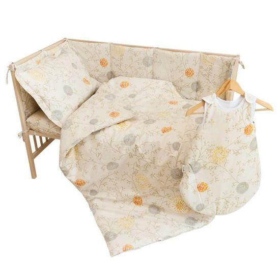 52ce5e979d821 Sunrise - Housse de couette 100x140 cm et Taie d oreiller 40x60 cm   Pati Chou  100% Coton parure de lit pour bébé Jaune - Achat   Vente parure de lit bébé  ...