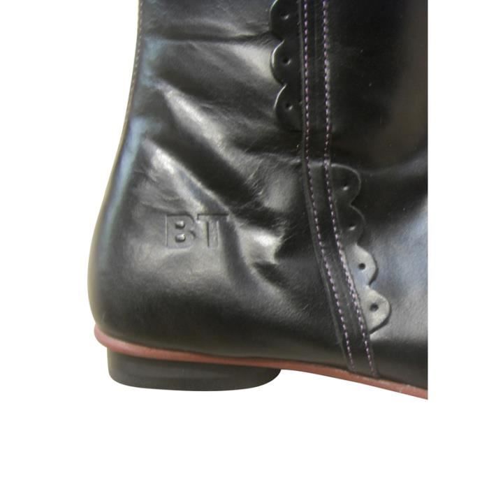 Femmes Cuissardes Cuissardes Bottes sexy Chunky talon Drawstring Bootie A7CSI Taille-37 xD9A8EHD