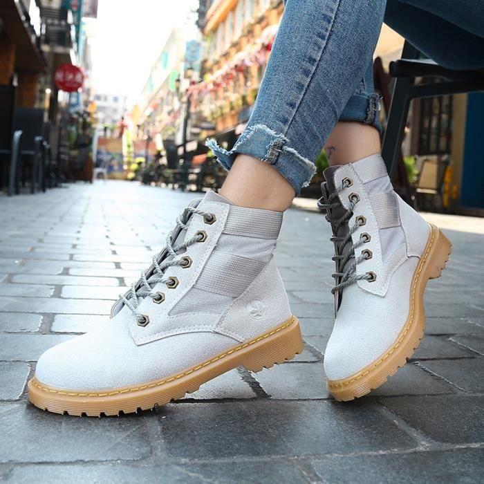 Bottes pour Hommegris 8.5 Populaire Automne et Hiver Homme warmful Design Chaussures de loisirs style pour hommes_49463