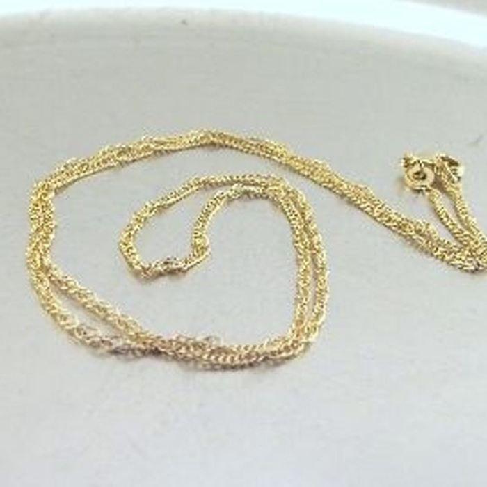Chaine / Collier Plaqué Or Singapour 45 cm 2 mm